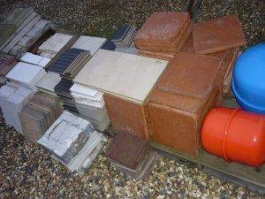 Ceramic and glazed floor tiles