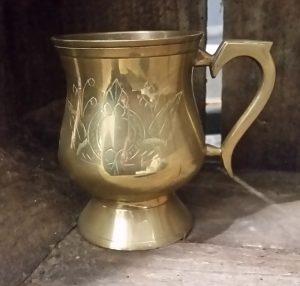 Vintage brass tankard