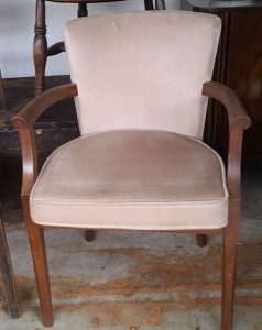 Cream velour chair