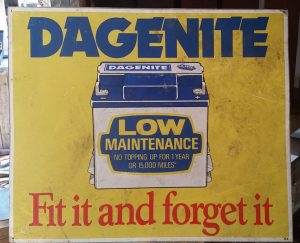Vintage Dagenite advertising sign