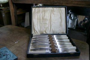 Antique fish knives & forks set