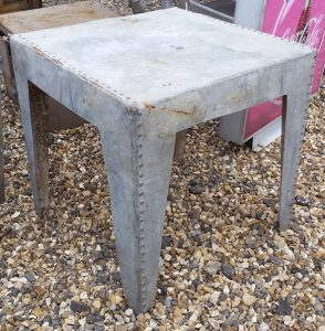 Galvanised tank coffee/garden table