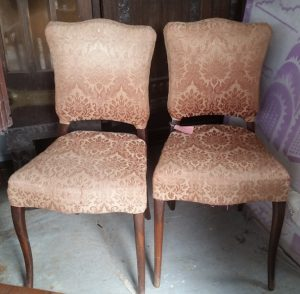 Gold upholstered chairs