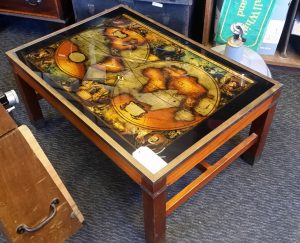 Vintage map table