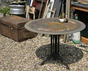 Unique metal table