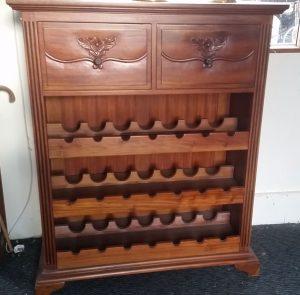 Handmade mahogany wine cabinet