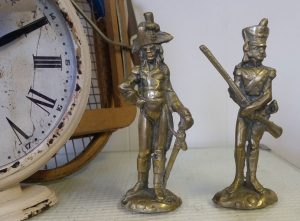 Brass soldier figures