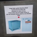 Stainless steel food vat