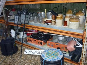 various stoneware/glassware
