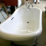 Slipper freestanding bath