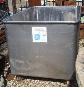 Stainless steel food vat